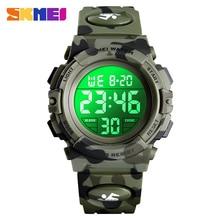 2019 SKMEI Boys Girls Electronic Digital Watch Outdoor Military Sport Watches Clock 50M Waterproof Wristwatch For Children Kids