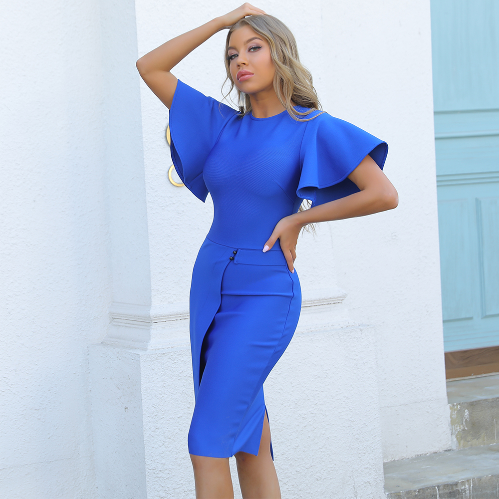 Ocstrade Bandage Dress 2021 New Arrival Blue Bandage Dress Bodycon Summer Birthday Outfits for Women Sexy Night Club Party Dress|Dresses| - AliExpress
