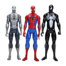 """1"""" 30 см Marvel Мстители черный костюм Человек-паук фигурка игрушка Человек-паук Коллекционная модель игрушки Железный человек Тор"""