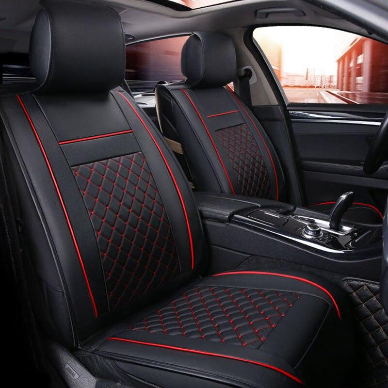 Pu Leather Car Seat Cover Set Universal Car Seat Cushion for Skoda Octavia 1 2 3 A5 A7 Tour Rapid Spaceback Superb 1 2 3