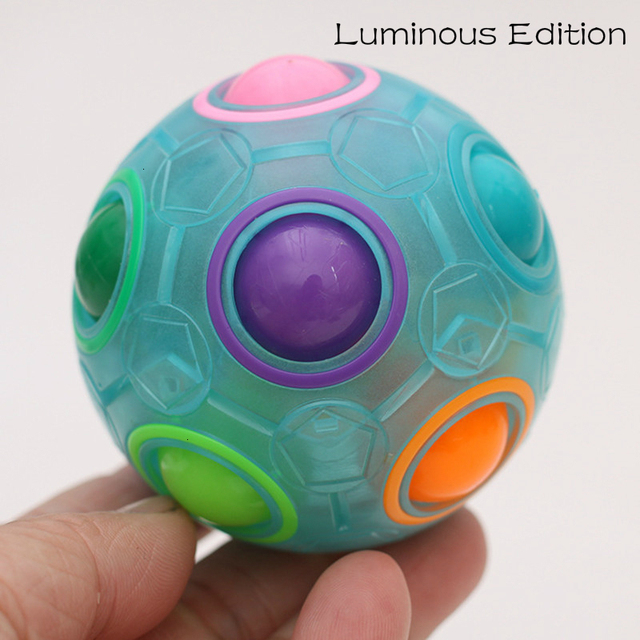 Creative Magic Spheric Cube Speed Rainbow Ball Puzzles Learning Educational Toys For Children Adults Office Anti Stress Puzzles 5