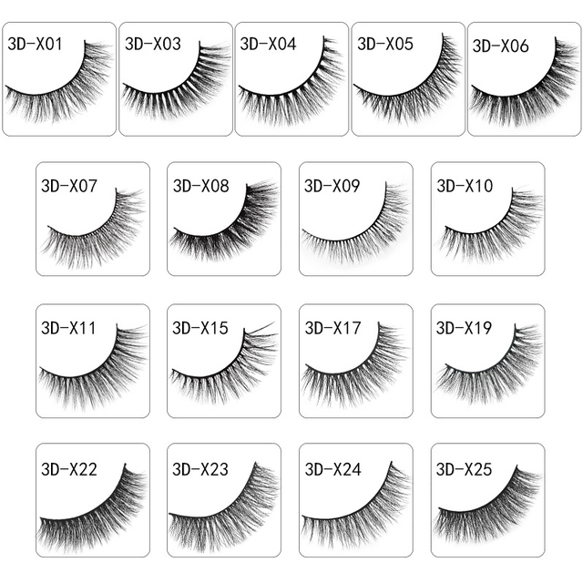 LANJINGLIN 10 boxes natural long false eyelashes wholesale make up 3d mink lashes full strip lash eye makeup tool faux cils 2