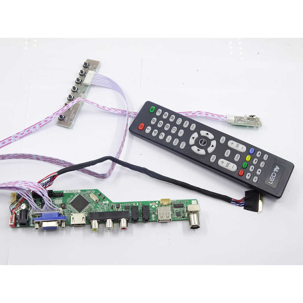Kit Voor LP156WH4 Tl Panel 1366X768 Controller Board Kit Remote 40pin Lvds Lg Display Tv Rf Av Usb Hdmi Dvi vga Led Lcd