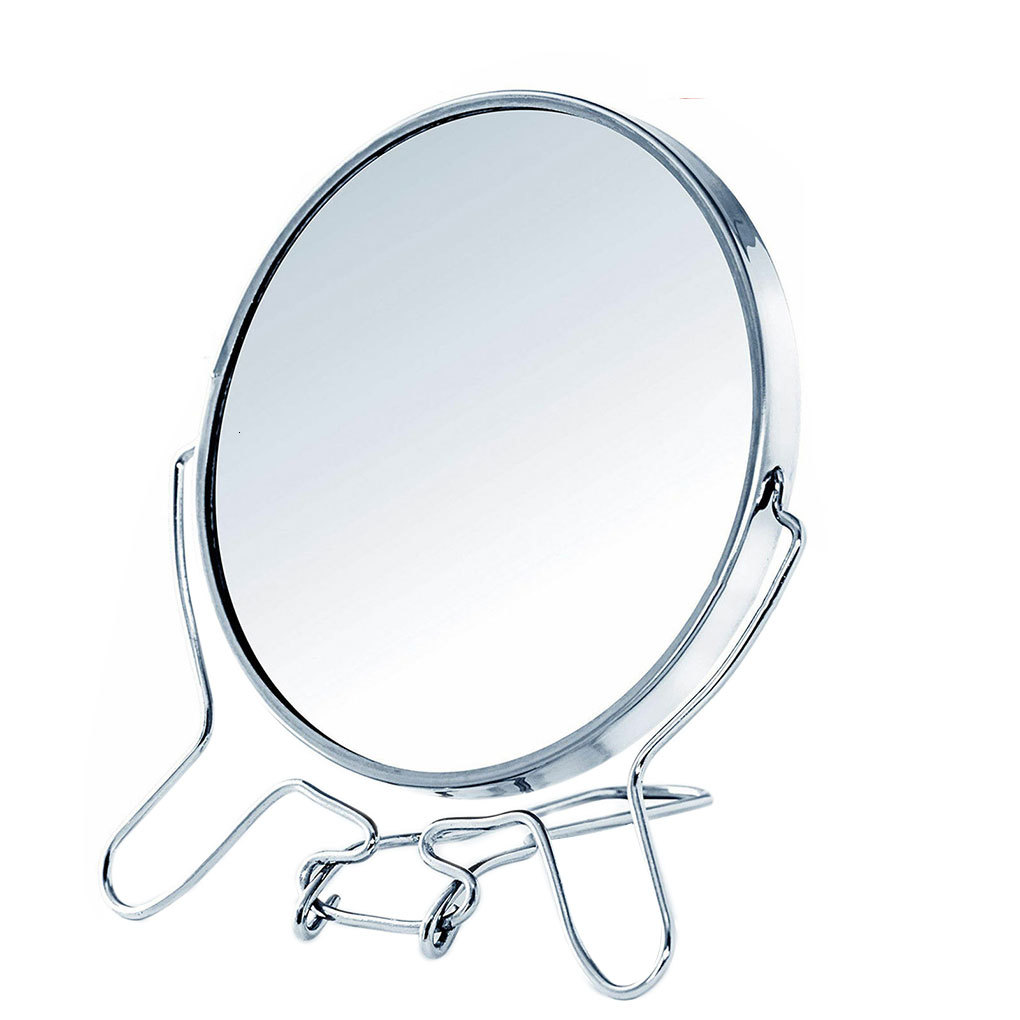 360 -rotating Metal Mirror 1:2 Zoom Function Two -sided Mirror Enlarge Glass Rvs Frame Make -up Mirror Make Up Tools