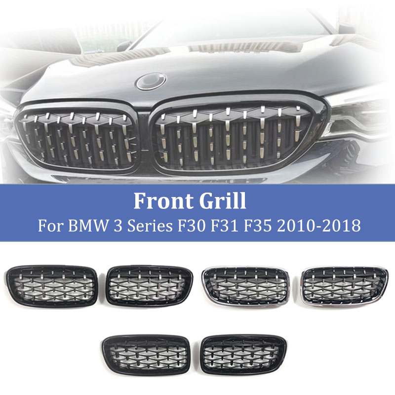 Front Grill Diamond  Kidney Racing Grilles Grille for BMW 3 Series F30 F31 320i 325i 328i 330i 335i 2010-2018 Car Accessories