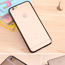 Klasik Sederhana Transparan Dua Warna Sisi Ponsel Case untuk iPhone 6 6P 7 8 PLUS All-Inclusive Anti Jatuh cover X XR(China)