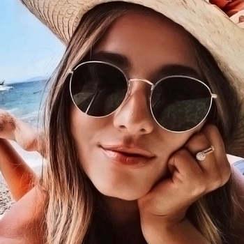 Metal retro sunglasses luxury brand design glasses  women driving classic polarized fashion trends for men and