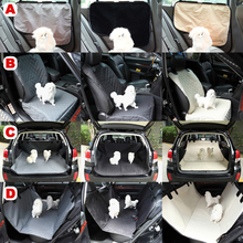 Oxford Fabric Pet Seat Cover Dog Car Back Seat Carrier Waterproof Pet Mat Hammock Cushion Protector Black/Gray/White D25 car pet carriers oxford fabric paw pattern pet seat cover dog car back seat carrier waterproof pet mat hammock cushion protector