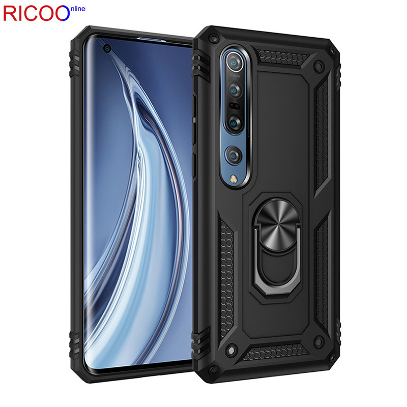 Armor <font><b>Magnet</b></font> Metal Ring <font><b>Case</b></font> For <font><b>Xiaomi</b></font> Redmi Note 9s <font><b>8</b></font> 7 K30 K20 Pro 7a 8a <font><b>8</b></font> <font><b>Xiaomi</b></font> Cc9 10 Pro Note 8t Shockproof Silicone <font><b>Case</b></font> image