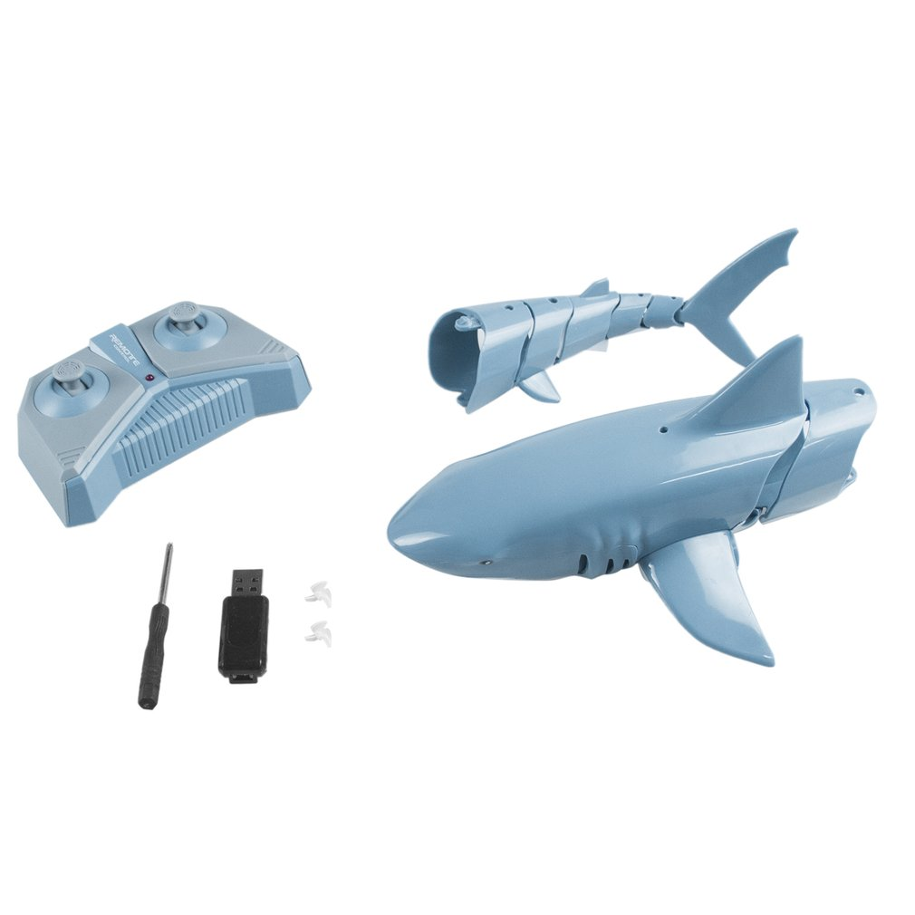 1:18 2.4g simulação de controle remoto tubarão
