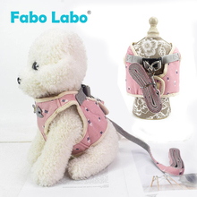 Breathable Mesh Dog Harnesses Leashes Suit Korean Style Cotton Shark's fin Printing Pet Vest For Dogs Walking Runing Pet Product