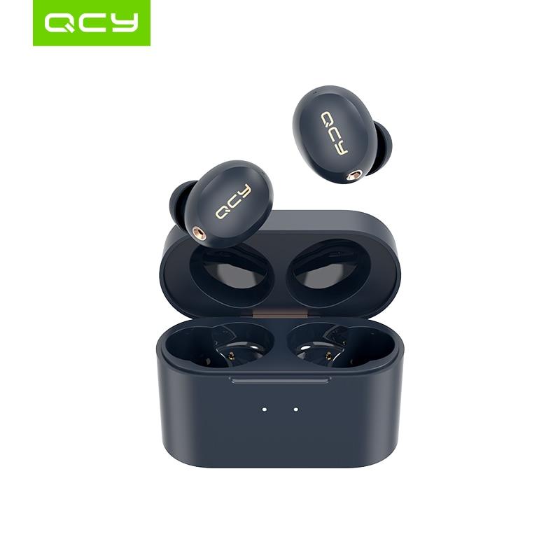 Qcy ht01 sem fio bluetooth 5.0 fones de ouvido anc cancelamento de ruído mini fones