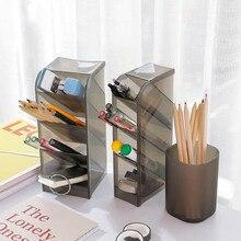 4 сетки стол для хранения мелочей Многофункциональный косметический держатель пластиковый материал ручка карандаш коробка для хранения Настольные принадлежности