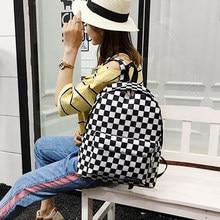 2020 unissex xadrez náilon feminino viagem daypack portátil mochila livro escola feminina casual sacos rugzak