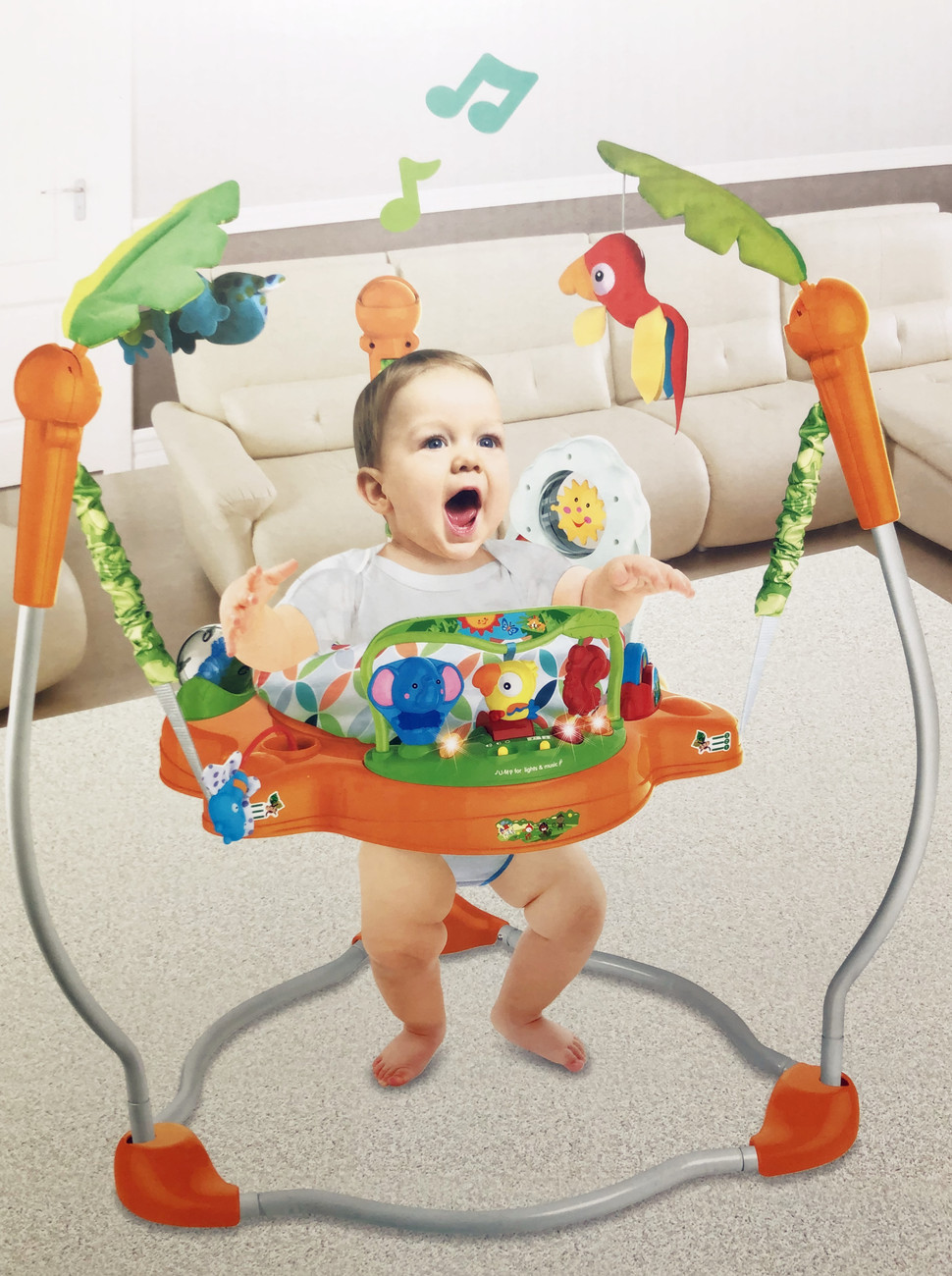 H8d4f7317fc994aedb1e3517a21ad9e9eP Multifunctional Electric Baby Jumping Walker Cradle Rainforest Baby Swing Body-building Rocking Chair Lucky Child Swing 3 M~2 Y