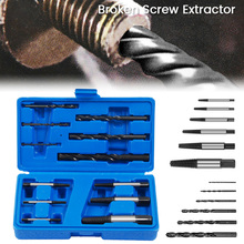 12pcs Damaged Screw Extractor Drill Bits Guide Set Broken Speed Out Easy out Bolt Stud Stripped Screw Remover Tool 12pcs drill bit set damaged screw extractor broken bolt easy out remover tool kit