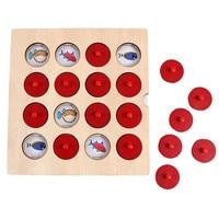 Montessori quebra-cabeças jogo de memória cérebro teaser quebra-cabeça de madeira brinquedos de memória para crianças brinquedos educativos interativos cedo # bl5