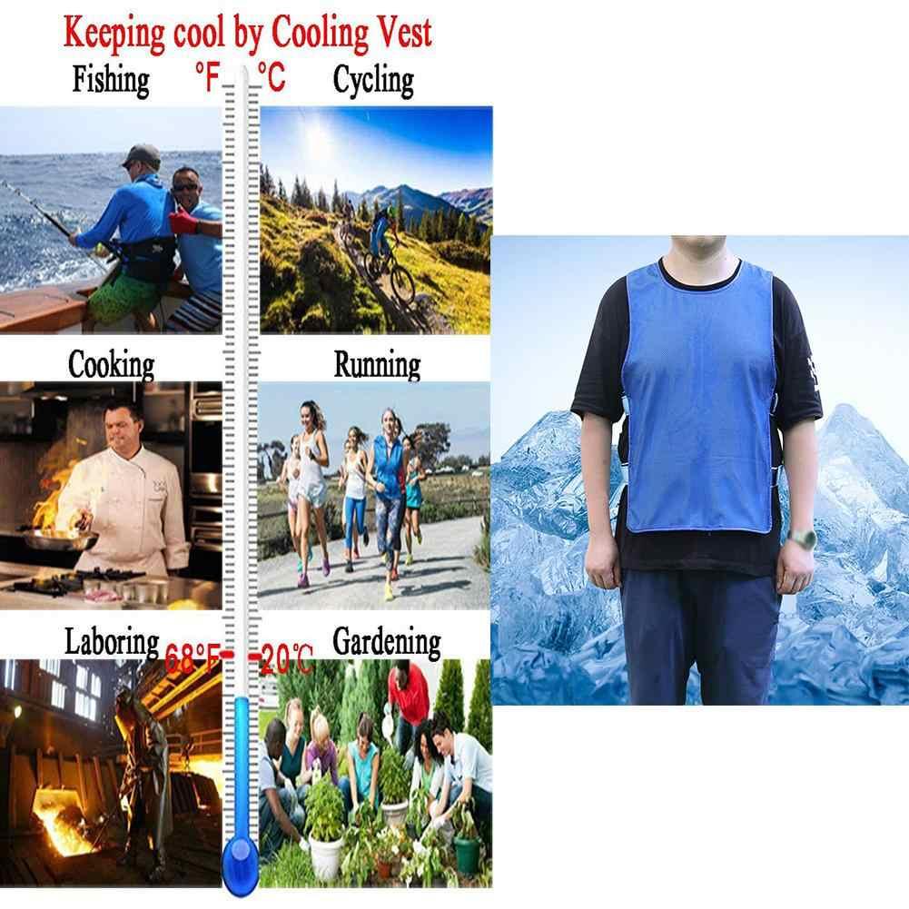 ฤดูร้อนตกปลาตกปลากลางแจ้ง Top Icy Cooling เสื้อ Cool สำหรับผู้ชายและผู้หญิง Fisher ขี่จักรยานวิ่งทำอาหารกีฬากลางแจ้ง Camp top