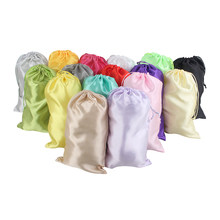 18x30cm Blank 16 Colors Light baby women Virgin Hair Extension Packaging Satin Silk Bag Gift Hair Bundles glasses Packing Bags(China)