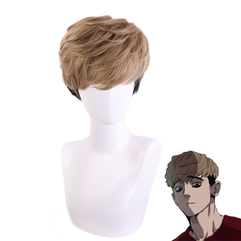 Anime Killing Stalking SangWoo Short Wig Cosplay Costume Heat Resistant Synthetic Hair Men Fashion Wigs