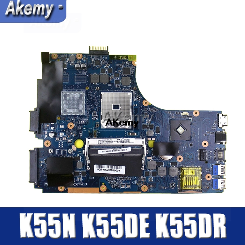 Amazoon  K55N Laptop Motherboard For ASUS K55N K55DE K55DR K55D K55 Test Original Mainboard