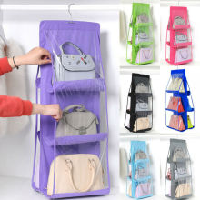 6 Pocket Hanging Bag Rack Hanger Storage Storage Holder Organizer Closet 90*35CM