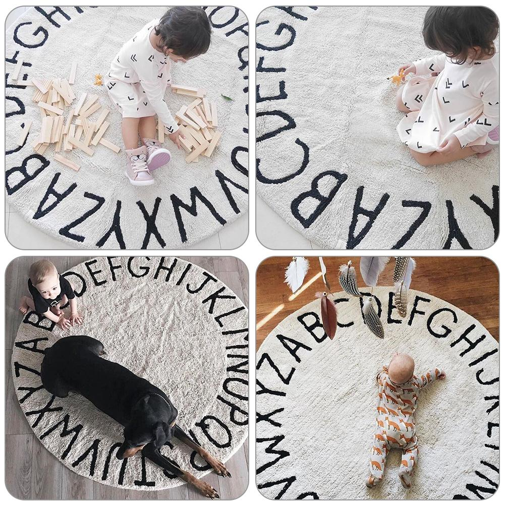 Baby Play Mats Pad Toddler Kids Crawling Blanket Round Carpet Rug Toys Mat For Children Room Decor Photo Props