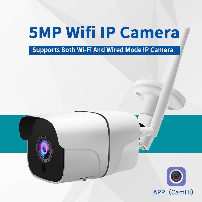 Two Way Audio Wifi IP Camera Outdoor Wireless Onvif Night Vision CCTV Bullet Security Camera TF Card Slot APP CamHi Optional 5MP|Камеры видеонаблюдения|   | АлиЭкспресс