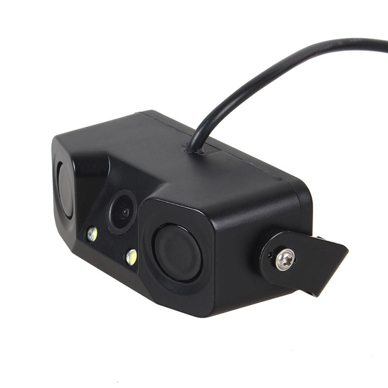 High-definition Rearview Camera Image All-in-one Three-in-One Rearview Camera Smart Reversing Radar Buzzer
