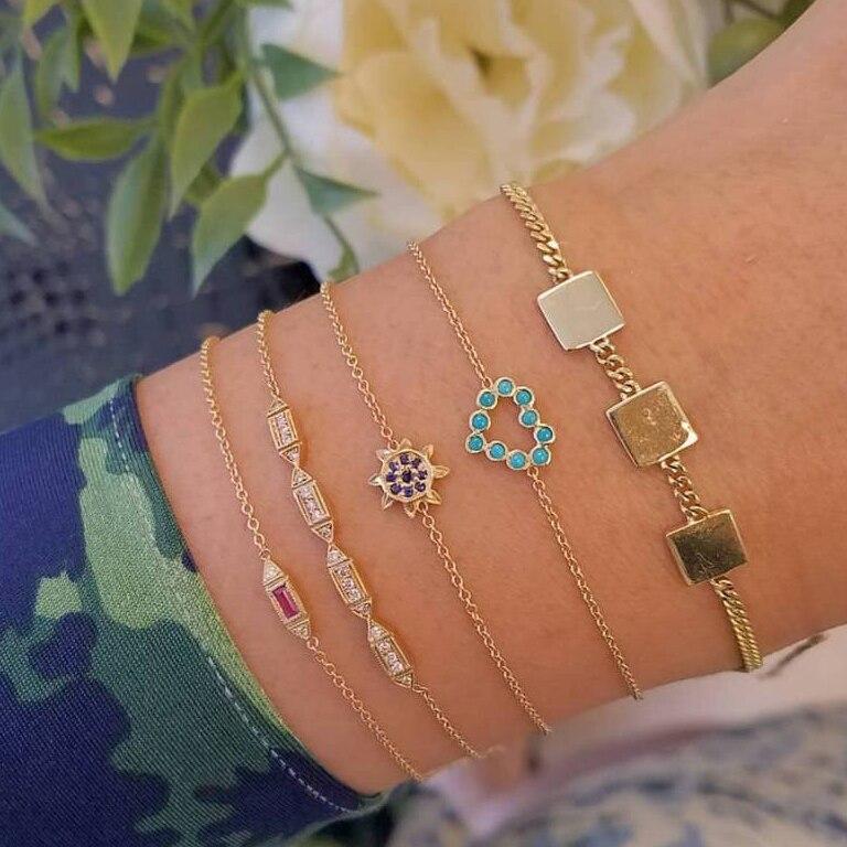 30 стилей микс черепаха сердце жемчуг волна любовь кристалл мрамор браслеты для женщин Бохо ювелирное изделие, браслет с кисточкой - Окраска металла: 4154