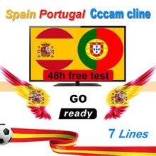 7 C linee Polonia Cccam Cline Per 1 Anno Europa Cccams Portogallo Spagna Francia Repubblica CCAM Server DVB S2 ricevitore satellitare GTMEDIA