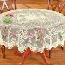 1 Uds. Vintage Angel Lace mantel rectángulo redondo cuadrado blanco mantel cubierta hogar fiesta decoración hogar Navidad Fiesta Decoración