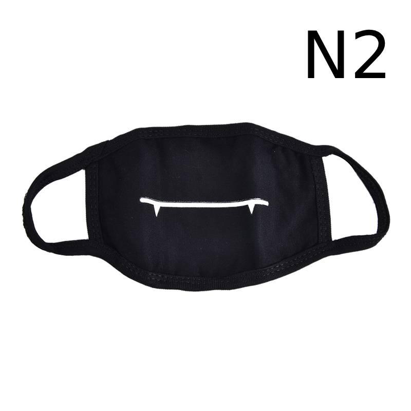 Маска для лица унисекс, хлопковая, Пылезащитная маска для лица, маска для лица, аниме, мультяшная, счастливый медведь, для женщин и мужчин, муфельная маска для лица, Вечерние Маски - Цвет: N2