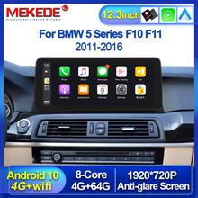 Android 10 0 12 3 calowy bezprzewodowy Carplay Android Auto samochodowy odtwarzacz multimedialny dla BMW serii 5 F10 F11 2011-2016 nawigacja GPS tanie tanio MEKEDE CN (pochodzenie) podwójne złącze DIN 4*45 128G JPEG ABS Metal 1920*720 1 5kg Wbudowany GPs Ładowarka bluetooth