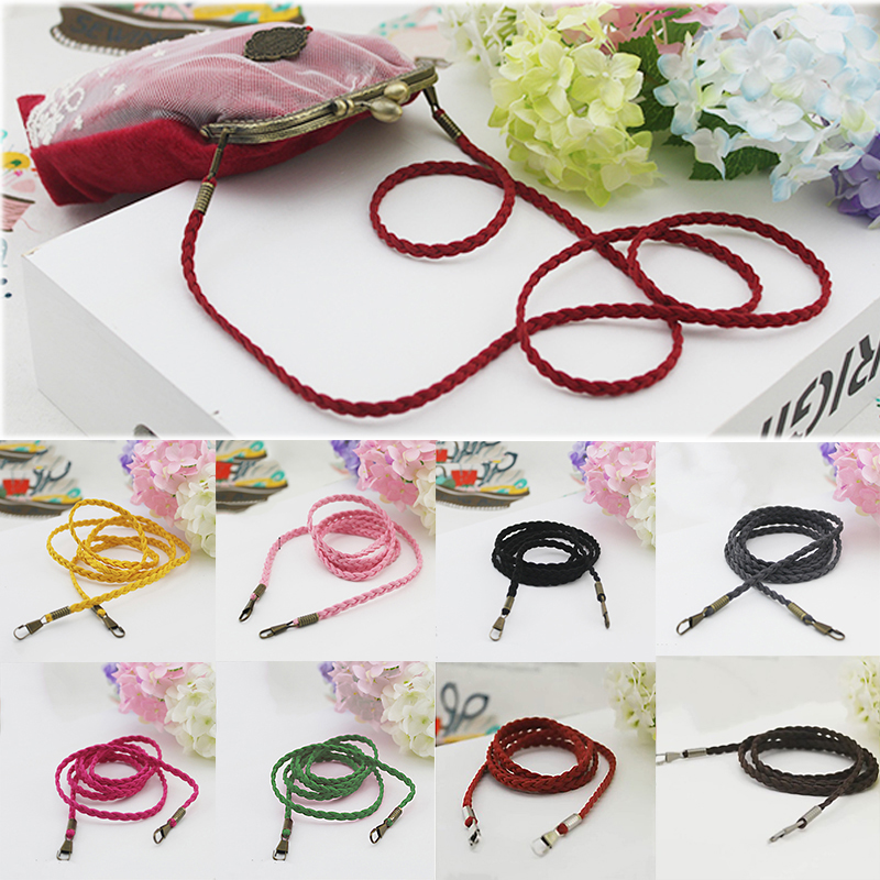 120cm Woven Bag Chain Strap Replacement Bag Strap For Purse Handbag Shoulder Bag 2019 Handbag Strap Women Purse Strap Bag Belt