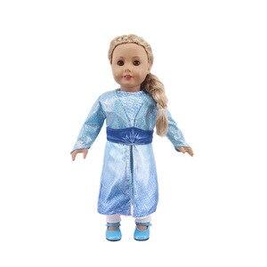 Кукольное платье принцессы Эльзы и Анны, одежда для детей размером 18 дюймов и 43 см, кукла для новорожденных, игрушки для девочек, наше поколе...