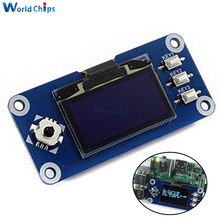 1.3inch OLED HAT Display 128x64 Pixels SPI/I2C Interface Embedded Controller Direct-pluggable for Raspberry Pi 2B/3B/3B+/Zero W