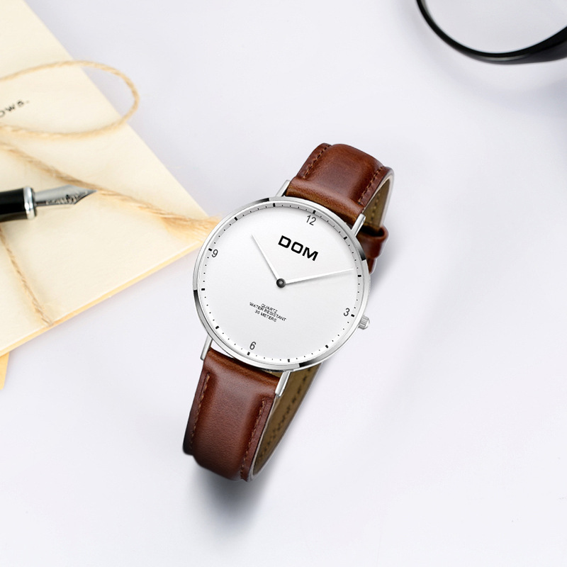 DOM (Dom) Genuine Product Fashion Ladies' Watch Fashion Mesh Belt Quartz Watch Simple Watrproof Watch G-36L-7MS