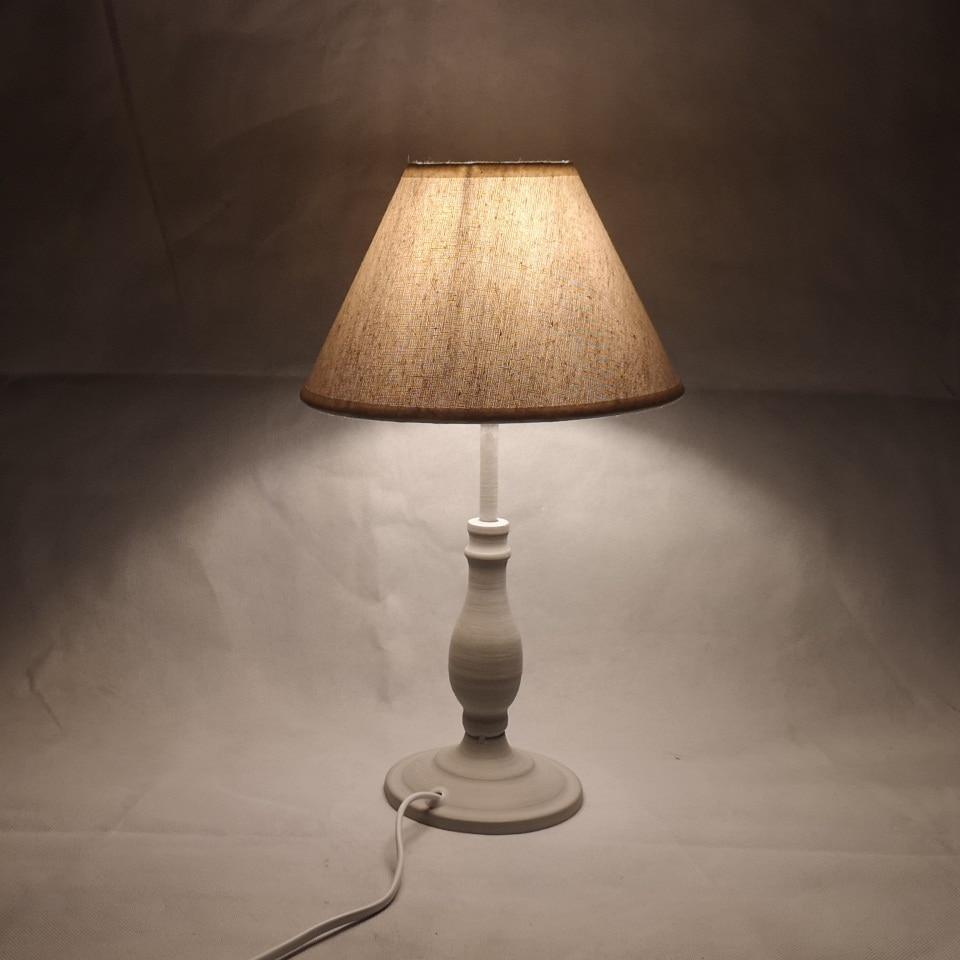 E14 Table Lamp 40w Small  Beige Beside Lighting For Bedroom Reading LED Bulb Warm White Eye-Care Night Light Decoration