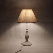 E14 Table Lamp 40w Small  Beige Beside lighting for Bedroom reading LED Bulb Warm White Eye Care Night Light Decoration