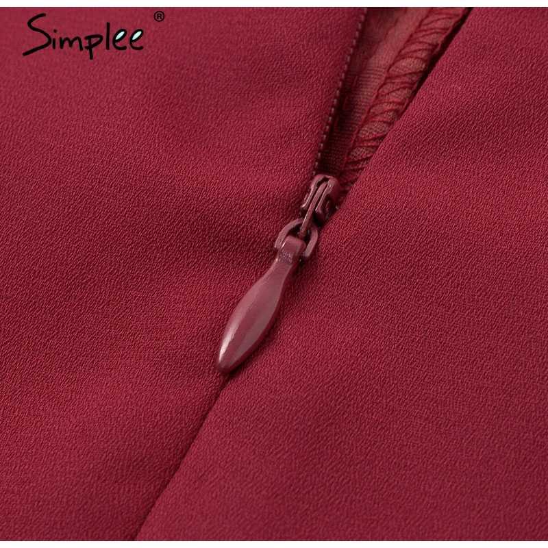 Женский кружевной ажурный комбинезон Simplee, 2019 женский ромпер на бретелях, вышитый длинный комбинезон с широкими штанами, однотонный летний комбинезон
