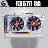 VEINEDA Graphics Card AMD Radeon RX 570 8GB 256Bit GDDR5 1244/7000MHz video card for nVIDIA Geforce Games