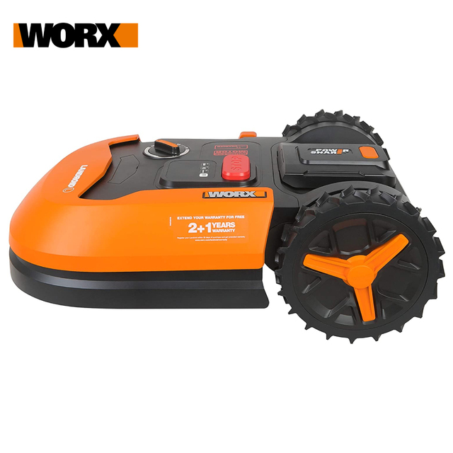 WORX Landroid L WR147E 20V Robot Lawn Mower Cordless Lawn Mower for Large Gardens up to 1000m² Telf-propelled Tidy lawn cut WIFI