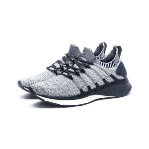 Image 5 - New Xiaomi Mijia sports shoes 4 sneakers a molding technology textile elastic knit shock absorber sole running comfort shoes 3