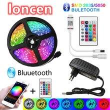 LONCEN Bluetooth LED Strip Lights 20M RGB 5050 SMD Flexible Ribbon Waterproof RGB LED Light 5M 10M Tape Diode DC 12V Control