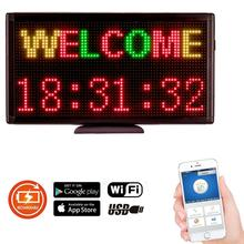Free Shipping Portable Led Open Sign Tabletop Advertising Lighting Programmable WiFi Controlled Display Board Rechargeable DC5V