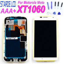 STARDE Replacement LCD For Motorola Moto XT1060 LCD Display Touch Screen Digitizer Assembly Frame 4.7