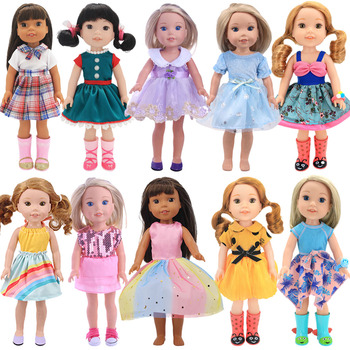 Doll Fashion Clothes Dress Skirt For 14.5 Inch Nancy American Doll&32-34Cm Paola Reina Doll Our Generation Girl`s Toy Russia DIY image