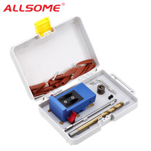 Drill-Bit-Kit Pocket-Hole ALLSOME Carpentry-Tools Woodworking Step Jig XK-1 for DIY HT2793