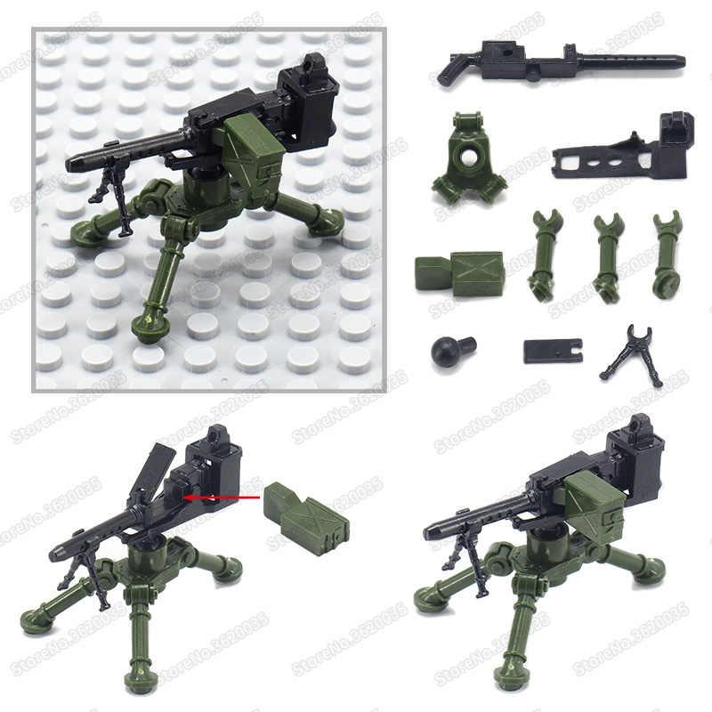 Legoinglys M2 aire armas militar ensamblar bloques de construcción de las cifras de las armas ww2 soldado del ejército equipo Moc niño juguete de regalo de Navidad